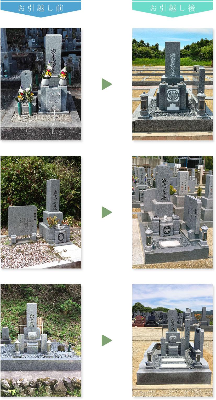 お墓の「お引越し」施工事例