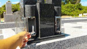 新六寸墓ロウソク立て