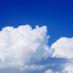 入道雲とお盆