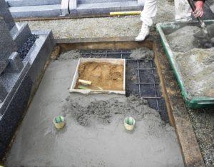 お墓 基礎 鉄筋 コンクリート