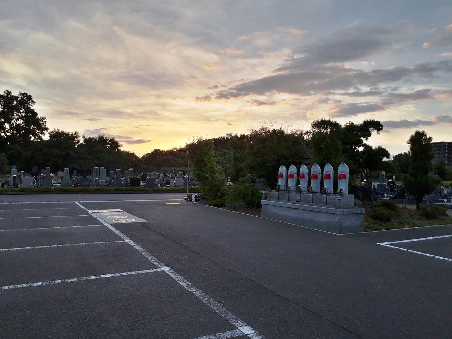 さとやま浄苑_お盆の夕焼け