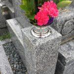 ステンレスの花筒