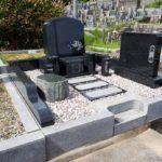 共同墓地での建墓工事