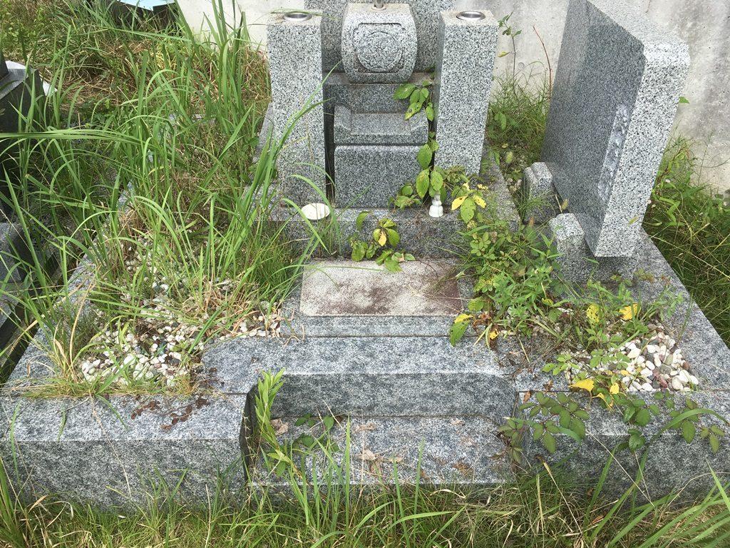 小橋谷墓地 防草工事