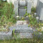 小橋谷墓地での防草工事