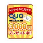 QUOカード3000円プレゼントキャンペーン好評です!