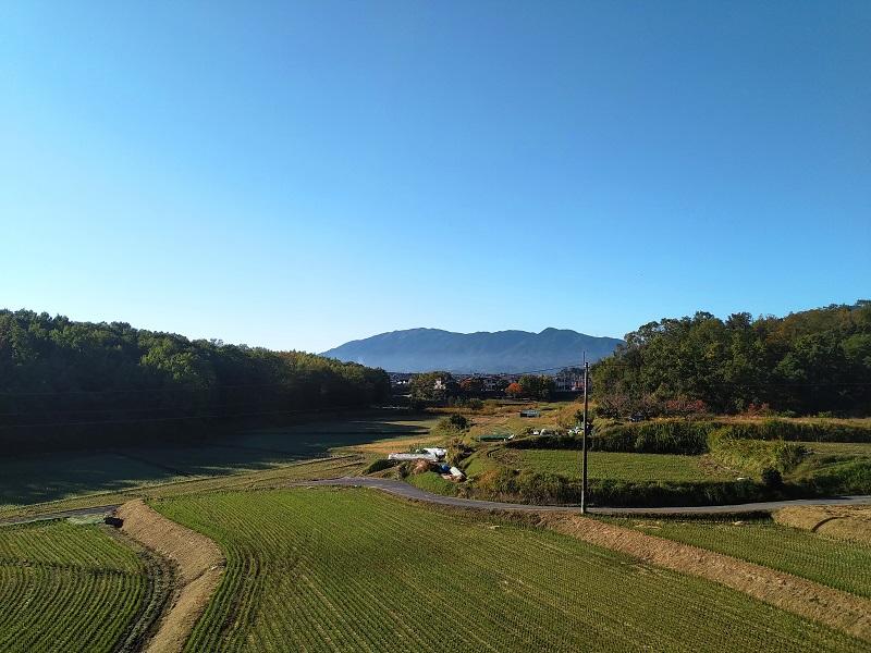 さとやま浄苑からの大和葛城山