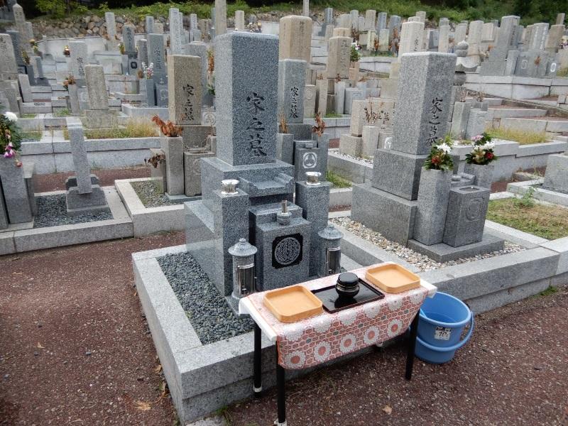 才田墓地 納骨式